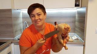 Как разделать домашнюю курицу за 30 секунд!