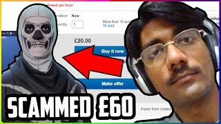 Buying a SKULL TROOPER account from a Fortnite SCAMMER (THIS HAPPENED)