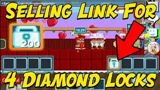 GrowTopia | Link Profit #4 (4 Diamond Locks!!)