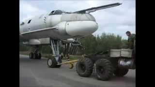 Перемещение Ту-95МС в музей ВВС Монино