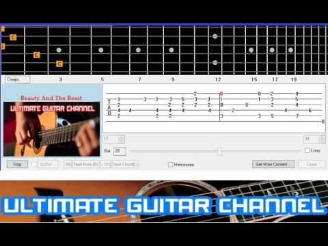 Guitar Solo Tab] Beauty And The Beast (Disney) - YouTube