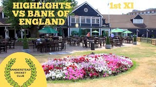 LAST OVER THRILLER! Highlights of Sanderstead Cricket Club 1st XI vs Bank of England 1st XI