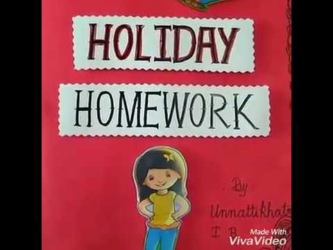 Decorative holiday homework project work | project design ideas