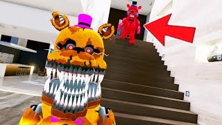 NIGHTMARE FREDBEAR vs RED TOY FREDDY! GUESS WHO WINS! (GTA 5 Mods For Kids FNAF) RedHatter
