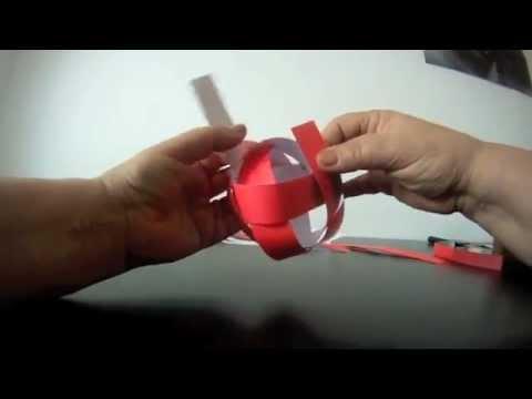 Woven Paper Globe - 4 strips / no glue