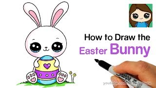 How to Draw a Cute Easter Bunny Easy