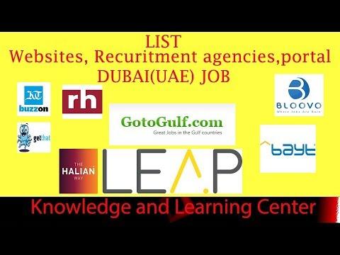 WEBSITES FOR JOBS IN DUBAI -UAE