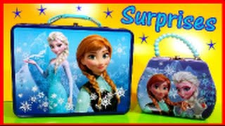 Disney Frozen Lunch box surprise egg, Shopkins Series 2 Barbie dresses
