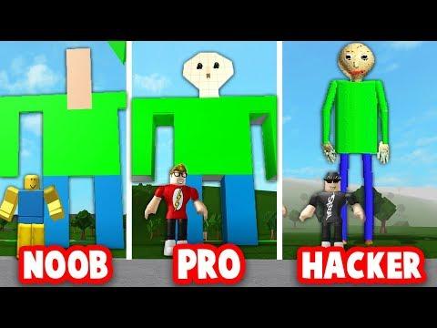 Roblox Bloxburg Build Off Noob Vs Pro Vs Hacker Baldi S Basics