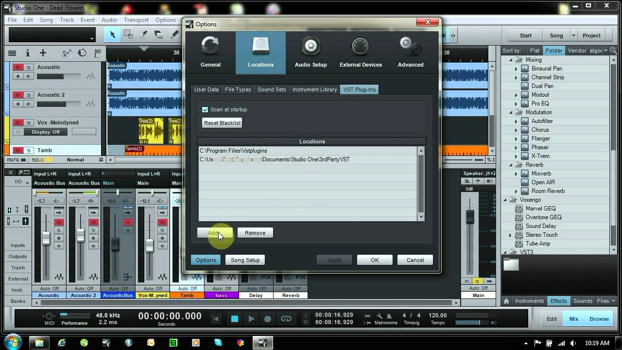 Studio One 2 How To Add 3rd Party VSTs Plugins