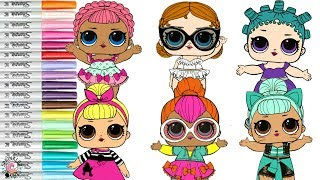 LOL Surprise Dolls Coloring Book Compliation Cosmic Queen Vacay Baby Ice Sk8er & More