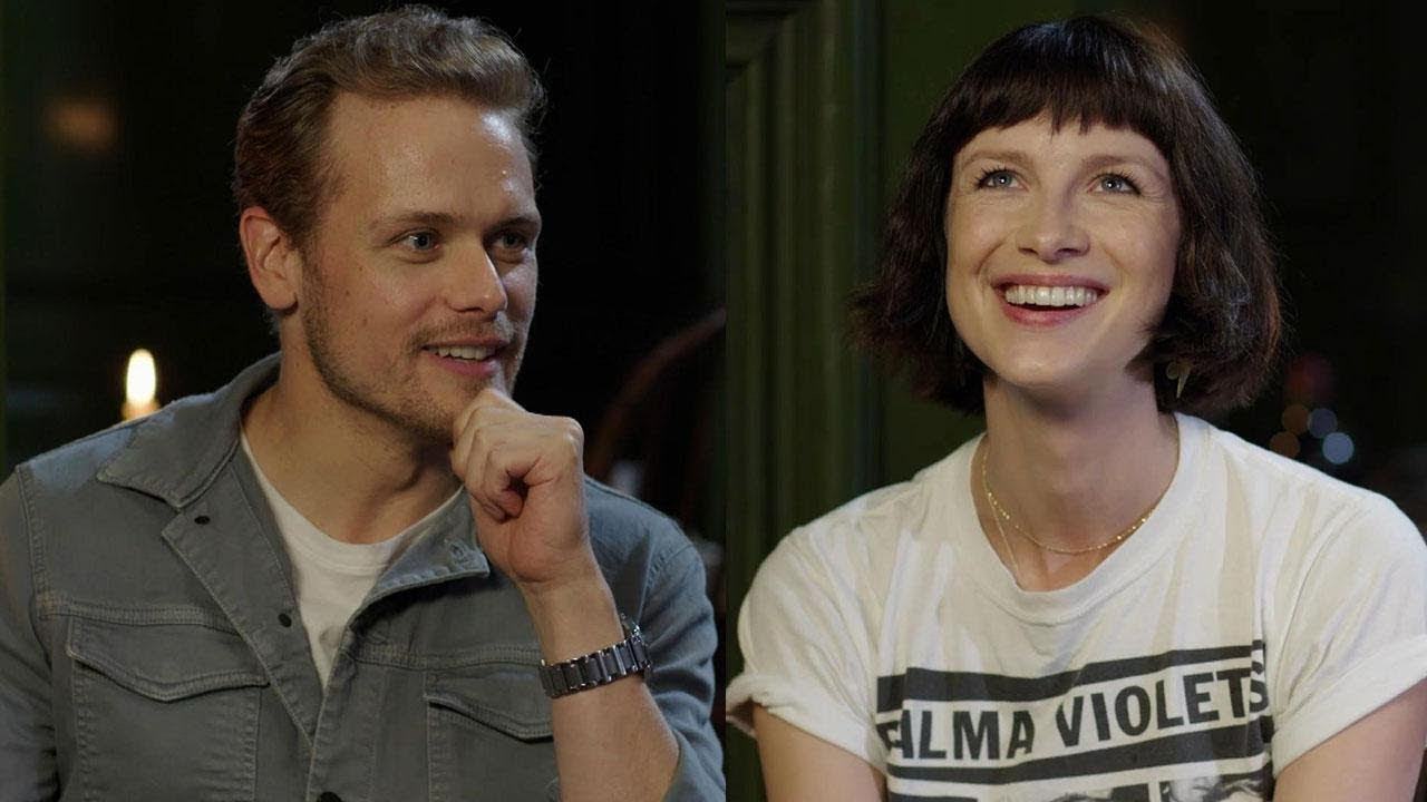 The Outlander Cast Plays A Giggle Filled Game Of Fill In The Blank For Season 4 Exclusive Youtube