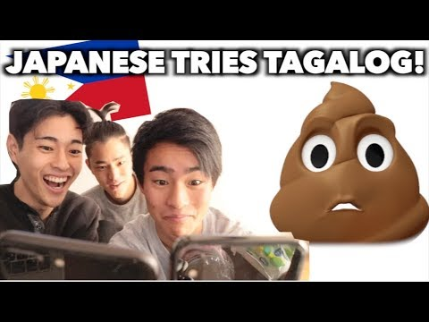 JAPANESE TRIES TO SPEAK TAGALOG WITH ANIMOJI!!!!!!!!!!!!!