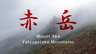 夏の南八ヶ岳登山 -阿弥陀岳~赤岳-   Mount Amida and Mount Aka