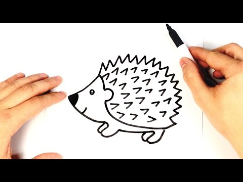 How To Draw Hedgehog For Kids