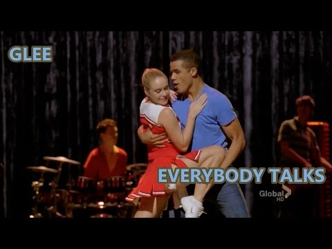 Glee-Everybody Talks (Lyrics/Letra)