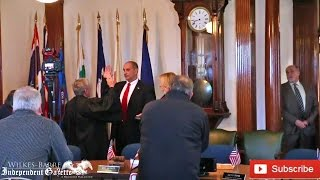 Tony George sworn in as Wilkes-Barre mayor