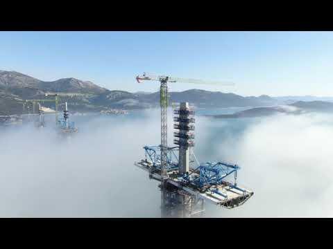 Pelješki most - snimka iz zraka (1.3.2021.)