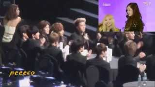 Repeat youtube video 140212 EXO REACTION TO SNSD-I Got a boy 3rd Gaon Chart Award