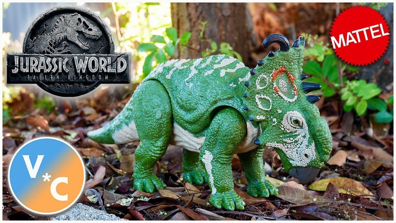 Dinosaur Toy SINOCERATOPS Mattel Jurassic World 2 Fallen Kingdom Roarivores