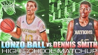 Lonzo ball vs. dennis smith jr high school match-up...choose your pg! plus footage of 13 y/o lamelo!