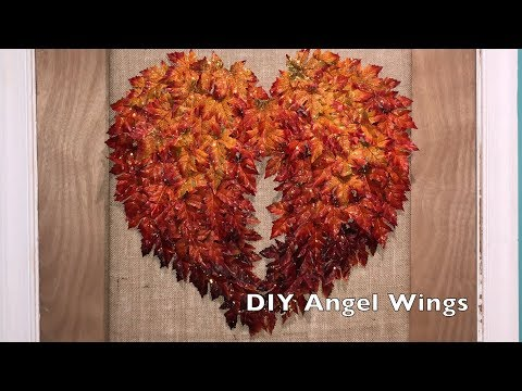 DIY Fall Decor - Angel Wings made from Leaves
