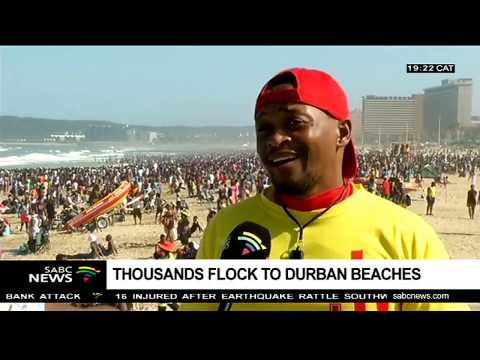 Thousands of holiday makers descend on Durban's beaches