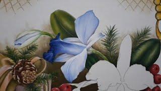 Pintura De Botão E Orquídea Lateral
