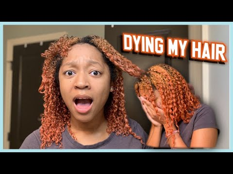 I DYED MY NATURAL HAIR ( Fail!! ) | Creme of Nature Lightest Blonde Dye