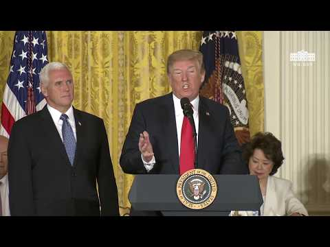 President Trump Meets with the National Space Council