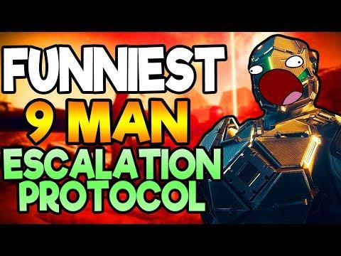FUNNIEST 9 MAN ESCALATION PROTOCOL! | Hilarious Destiny 2 Warmind Gameplay!