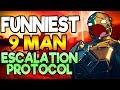 FUNNIEST 9 MAN ESCALATION PROTOCOL!   Hilarious Destiny 2 Warmind Gameplay!