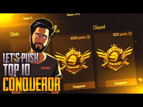 WHEN SOLO VS SQUAD player pushing Asia Top 10 Conqueror WITH SQUAD | PUBG mobile india live !Rank 16