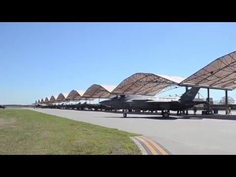 F-35 Lightning IIs at McEntire AFB