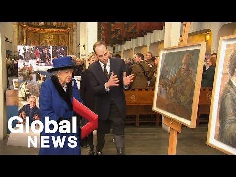 Queen Elizabeth II attends military ceremony in London