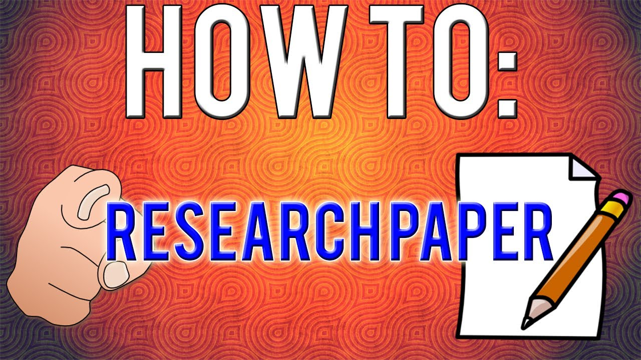 How To Write A Research Paper! 8 Simple Steps YouTube