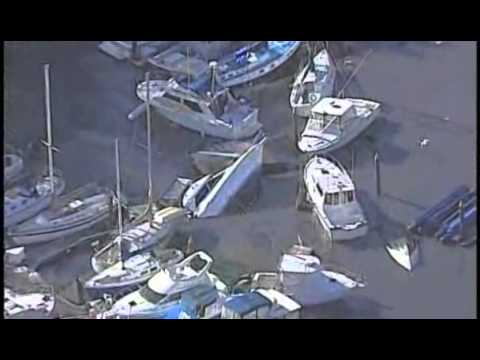 TSUNAMI HITS NORTHERN CALIFORNIA, HELICOPTER FOOTAGE! JAPAN EARTHQUAKE (RAW VIDEO)