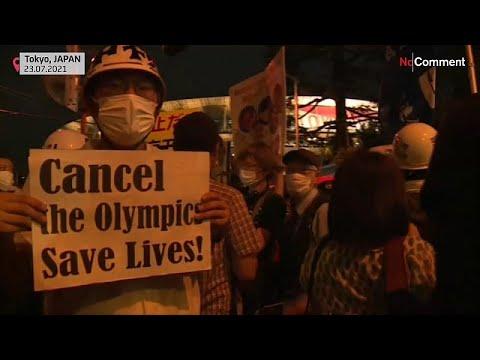 شاهد | محتجون يتظاهرون ضدّ أولمبياد طوكيو قبيل افتتاحه  - 21:54-2021 / 7 / 23