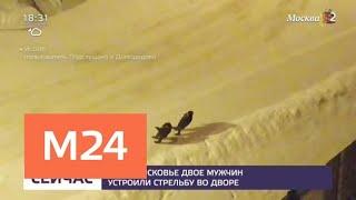 В Подмосковье двое мужчин устроили стрельбу во дворе - Москва 24