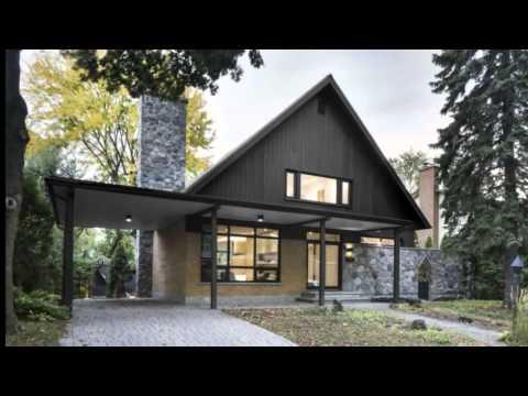 Дизайн интерьера загородного дома с мансардой.
