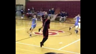 THREE POINT Half Court Winning Basket -- 8th Grader makes amazing shot