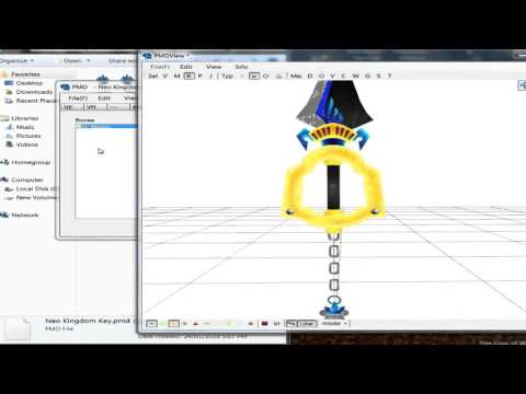 Part 14 - Importing model into PMD/PMX editor [3D keyblade Tutorial]