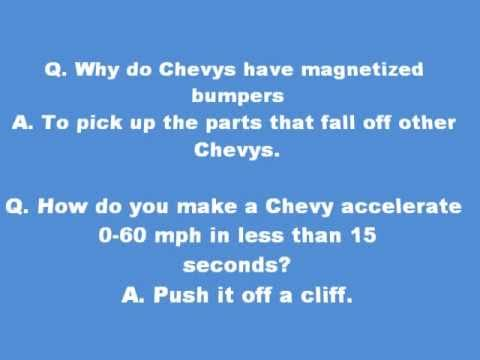 Chevy Jokes Here Is A Great Compilation For With Jokes