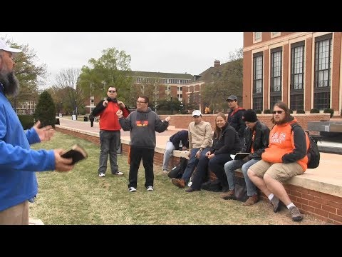 Atheism REDUCED TO ABSURDITY by Street Preacher - Oklahoma State University - Kerrigan Skelly
