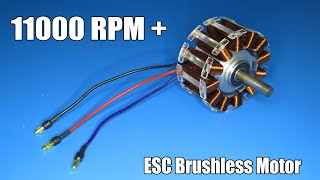 How to make a high speed brushless motor