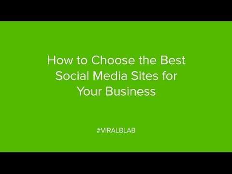 How to Choose the Best Social Media Sites for Your Business