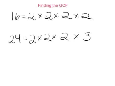 Finding the GCF and LCM with Prime Factorization