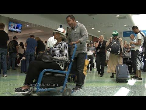 Fort Lauderdale, FL Airport Chaos Irma Preps Lake Worth FL - 9/8/2017