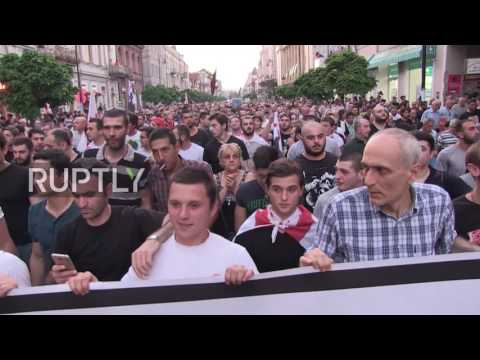 Georgia: Thousands attend nationalist march against illegal immigration in Tbilisi