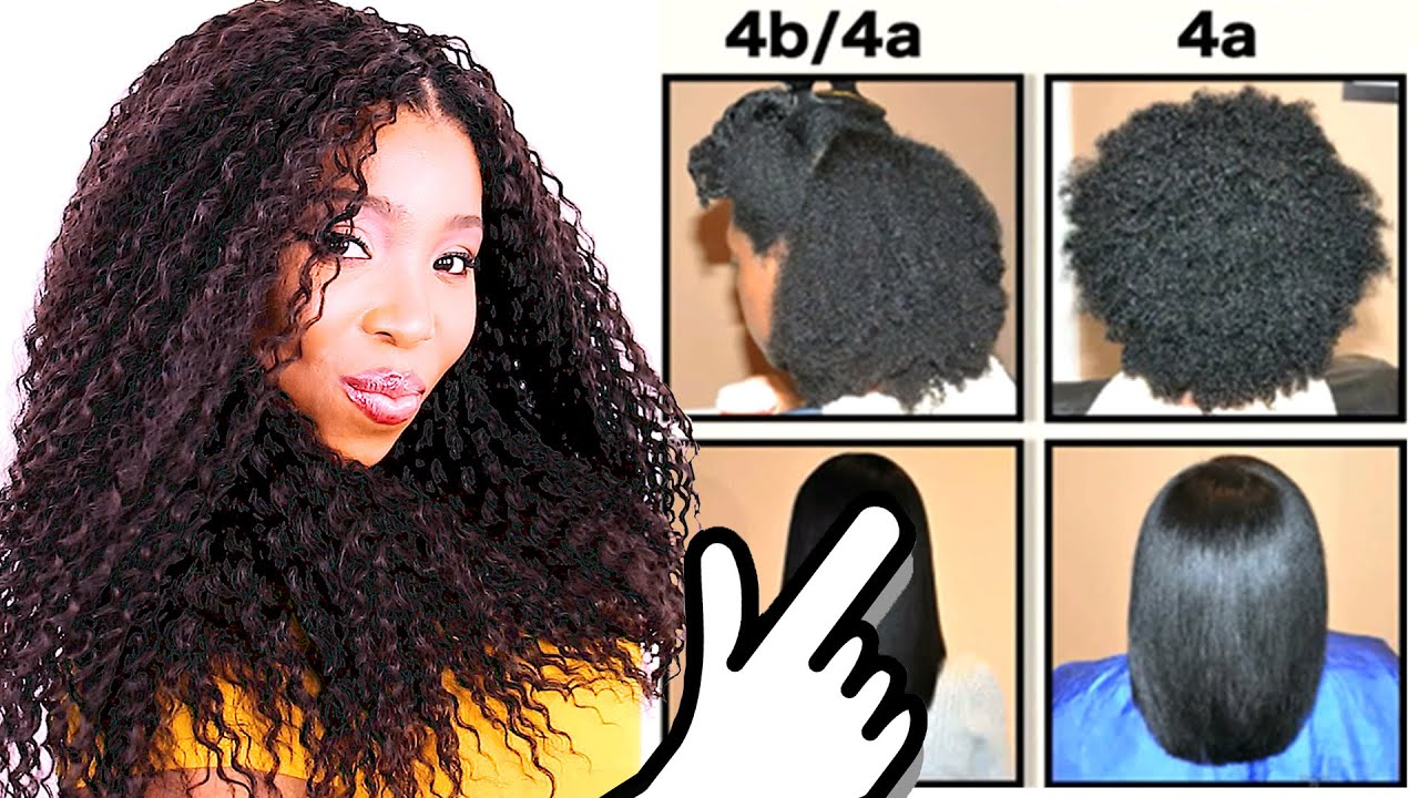 Natural Hair Types Explained In Detail W Pictures 4c 4b 4a Hair Chart Youtube